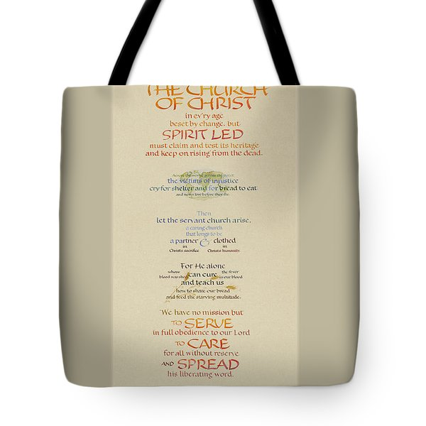 The Church Of Christ In Every Age II Tote Bag by Judy Dodds