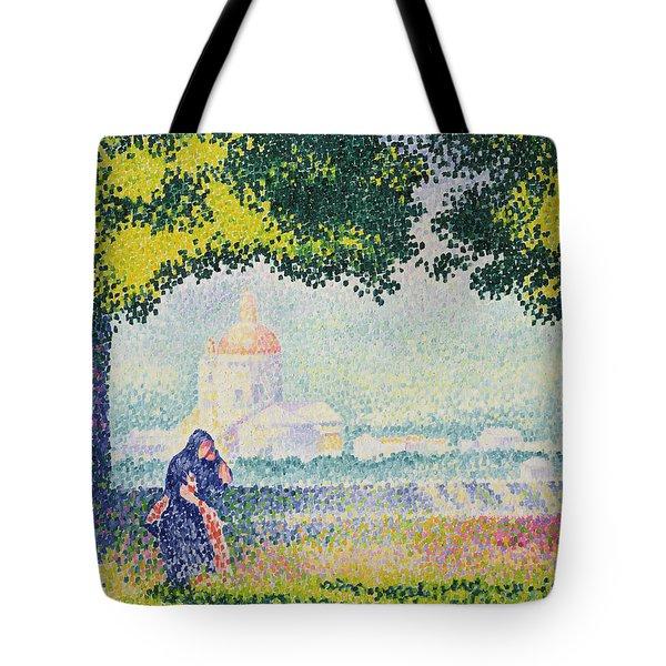 The Church Of Santa Maria Degli Angeli Tote Bag by Henri-Edmond Cross