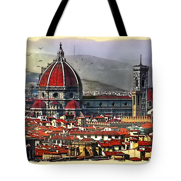 The City Of Florence Tote Bag