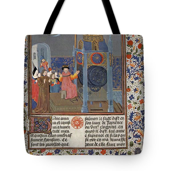 The Clock Of Wisdom, Illuninated Tote Bag by Science Source