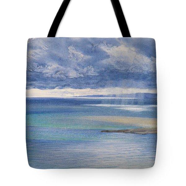The Coast Of Sicily From The Taormina Cliffs Tote Bag by John Brett