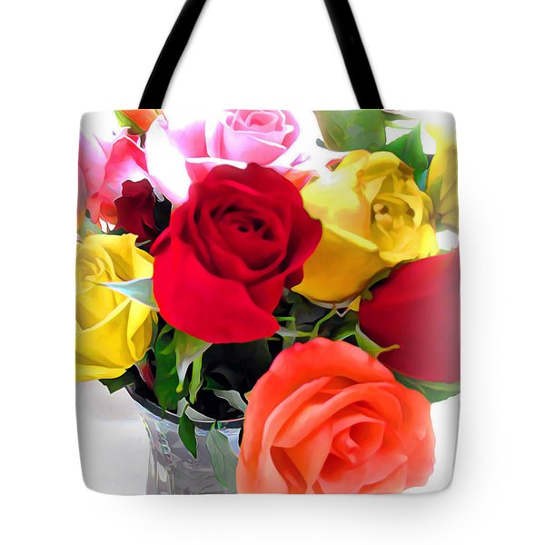 The Color Of A Rose Tote Bag by Joan  Minchak