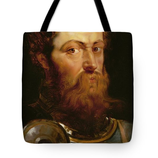 The Commander's Head  Tote Bag by Peter Paul Rubens