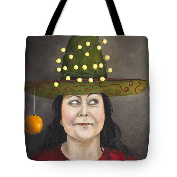 The Competitive Sombrero Couple 1 Tote Bag by Leah Saulnier The Painting Maniac