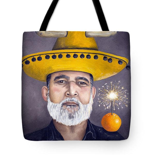 The Competitive Sombrero Couple 2 Tote Bag by Leah Saulnier The Painting Maniac