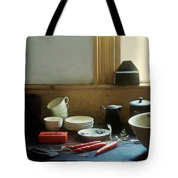 The Cook's Table Tote Bag by RC deWinter