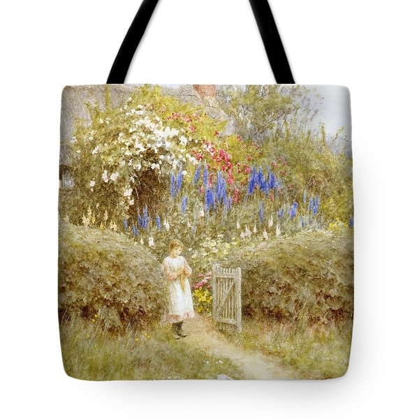 The Cottage Gate Tote Bag by Helen Allingham