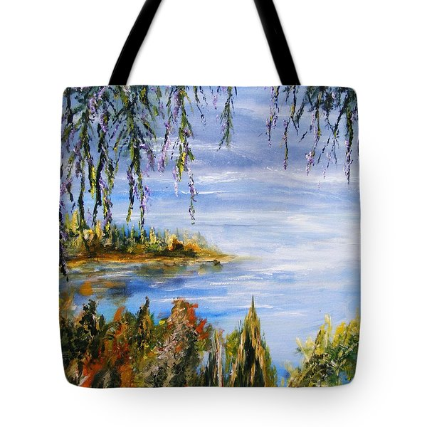 Tote Bag featuring the painting The Cove by Karen  Ferrand Carroll