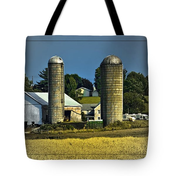 The Cows Have Come Home Tote Bag by DigiArt Diaries by Vicky B Fuller
