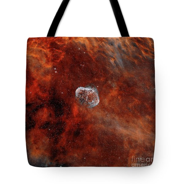 The Crescent Nebula With Soap-bubble Tote Bag by Rolf Geissinger