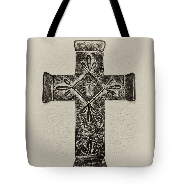 The Cross Tote Bag by Bill Cannon