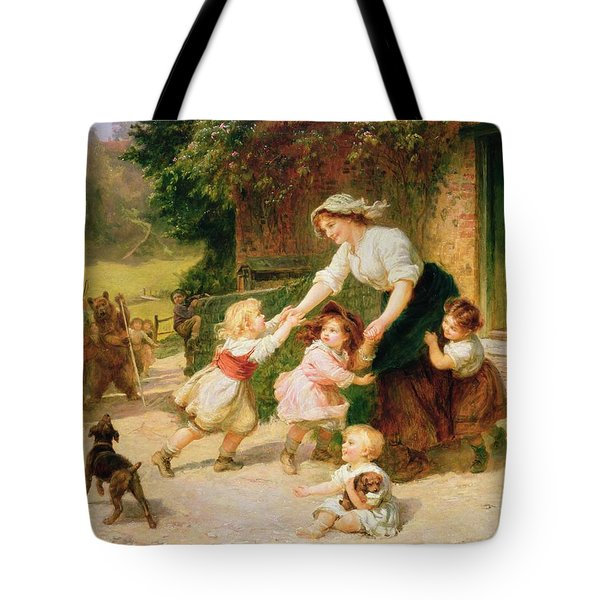 The Dancing Bear Tote Bag by Frederick Morgan