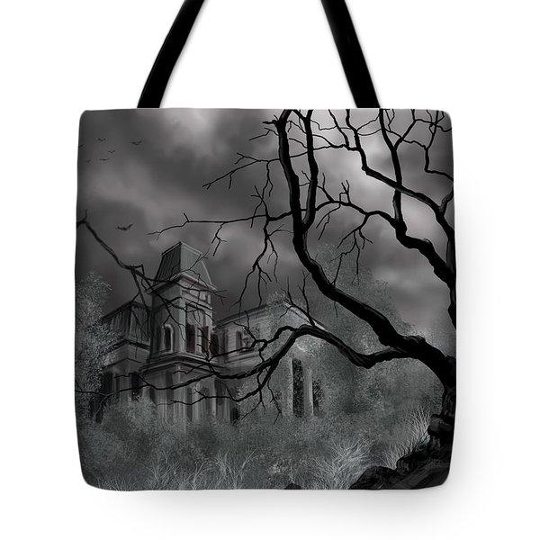 The Dark Mansion Tote Bag