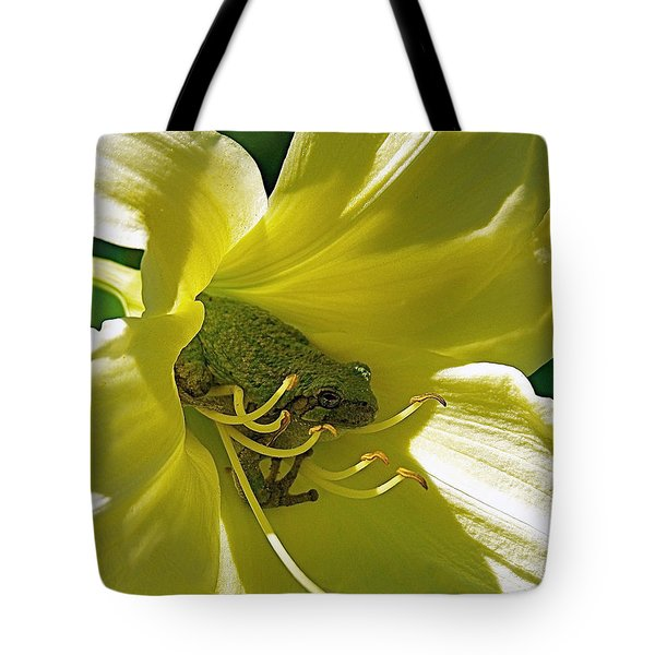 The Day Lily Met Her Prince Tote Bag