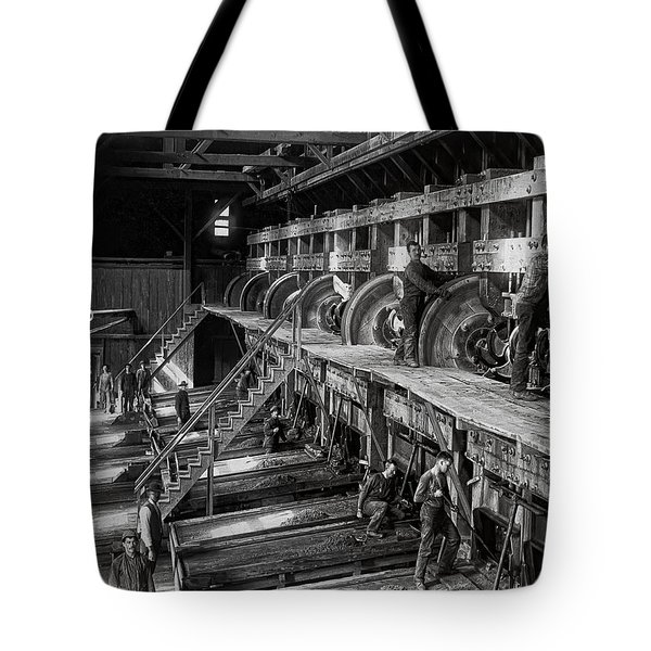 The Deadwood Terra Gold Ore Stamp Mill C. 1888 Tote Bag by Daniel Hagerman