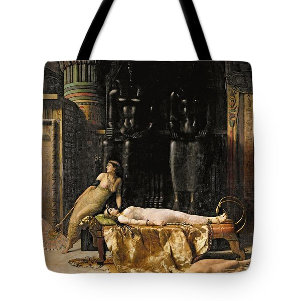 The Death Of Cleopatra  Tote Bag by John Collier