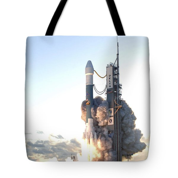 The Delta II Rocket Lifts Tote Bag by Stocktrek Images