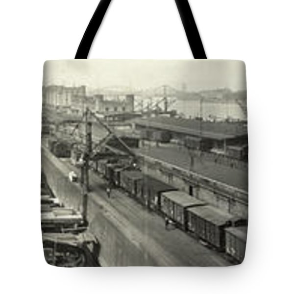The Docks At Cologne - Germany - C. 1921 Tote Bag by International  Images