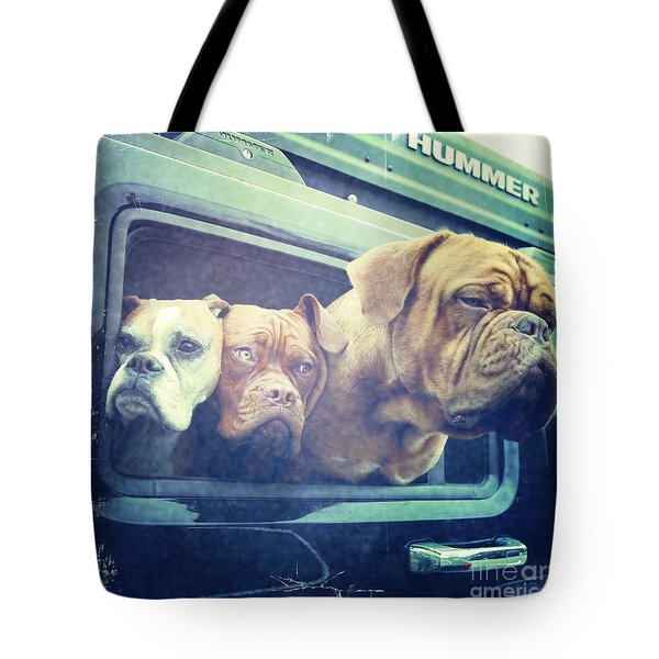 The Dog Taxi Is A Hummer Tote Bag