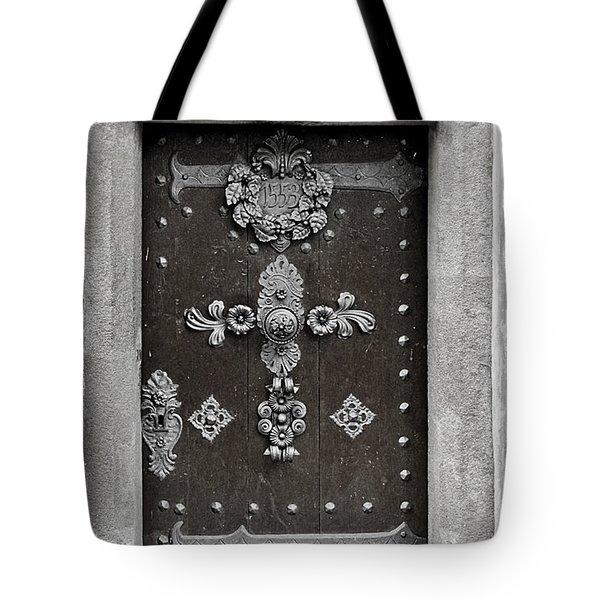 The Door - Ceske Budejovice Tote Bag by Christine Till