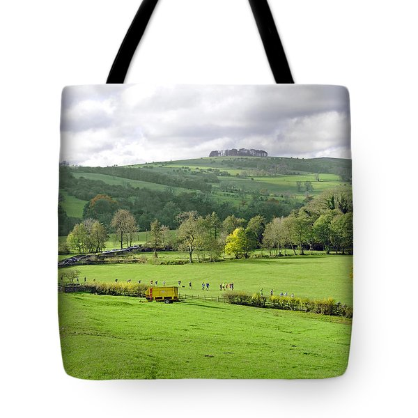 The Dovedale Dash By Thorpe Mill Farm Tote Bag by Rod Johnson