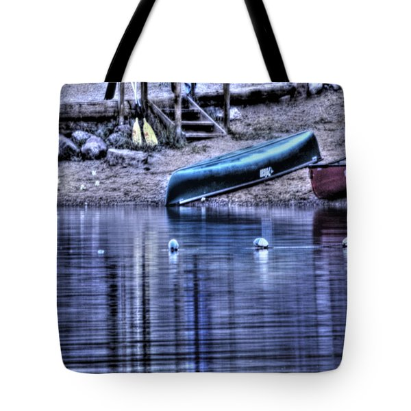 Tote Bag featuring the photograph The Dramatic Canoe Scene by Janie Johnson
