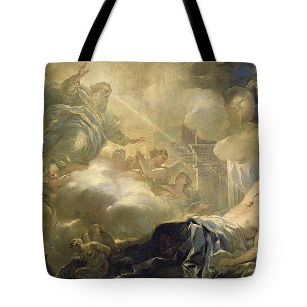 The Dream Of Solomon Tote Bag by Luca Giordano
