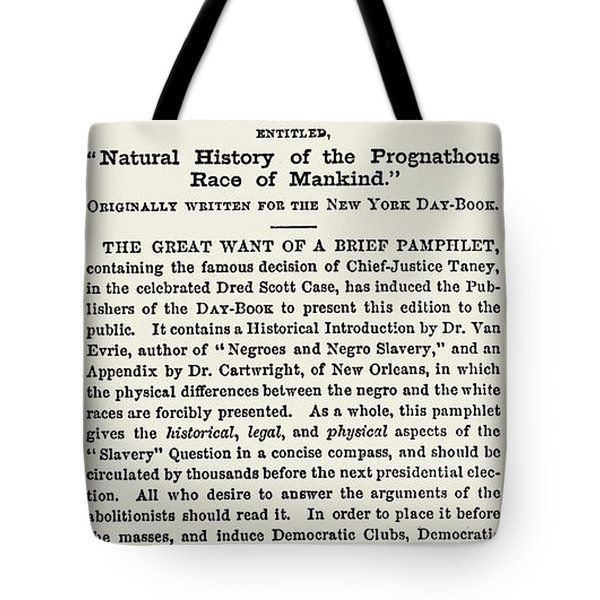 The Dred Scott Decision, 1857 Tote Bag by Photo Researchers