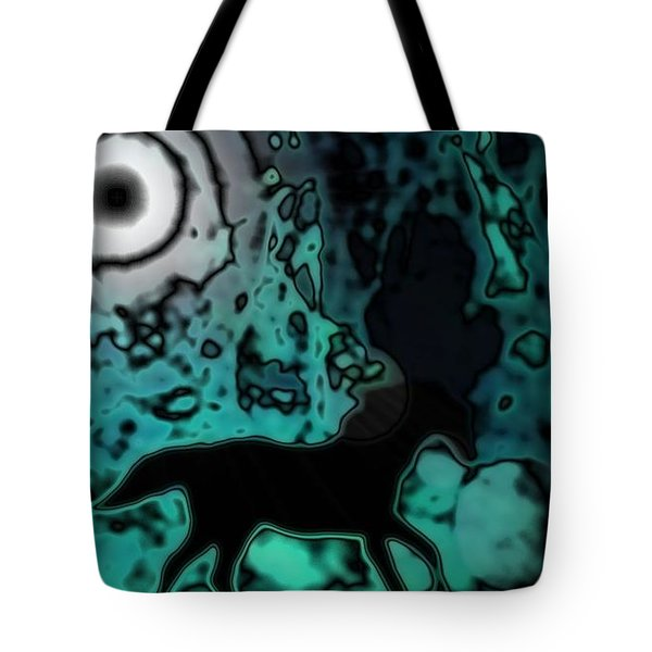 Tote Bag featuring the photograph The Eclipsed Horse by Jessica Shelton