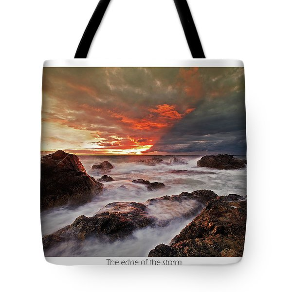 Tote Bag featuring the photograph The Edge Of The Storm by Beverly Cash