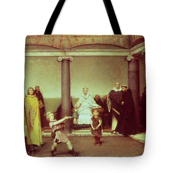 The Education Of The Children Of Clothilde And Clovis Tote Bag by Sir Lawrence Alma-Tadema
