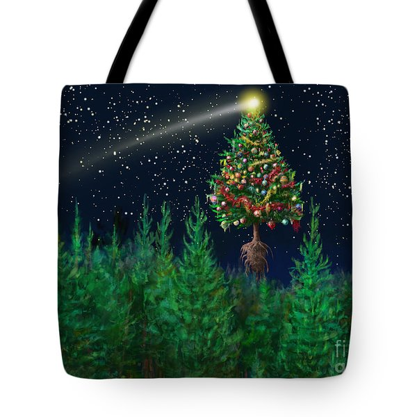 The Egregious Christmas Tree Classic Landscape Tote Bag by Russell Kightley