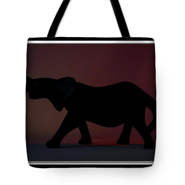 Tote Bag featuring the digital art The Elephant... by Tim Fillingim