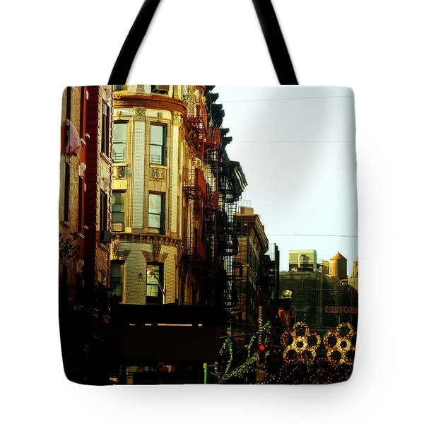 The Empire State Building And Little Italy - New York City Tote Bag by Vivienne Gucwa