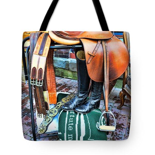 The English Saddle Tote Bag by Paul Ward