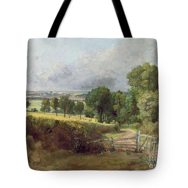 The Entrance To Fen Lane By Constable John Tote Bag by John Constable