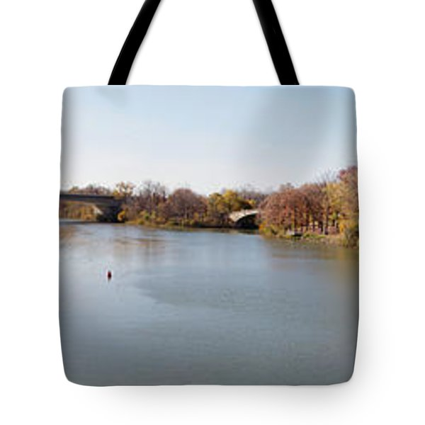 Tote Bag featuring the photograph The Erie Canal Crossing The Genesee River by William Norton
