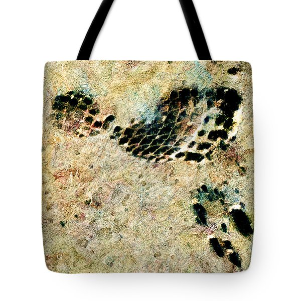 Tote Bag featuring the digital art The Evolution Of Man by Steve Taylor