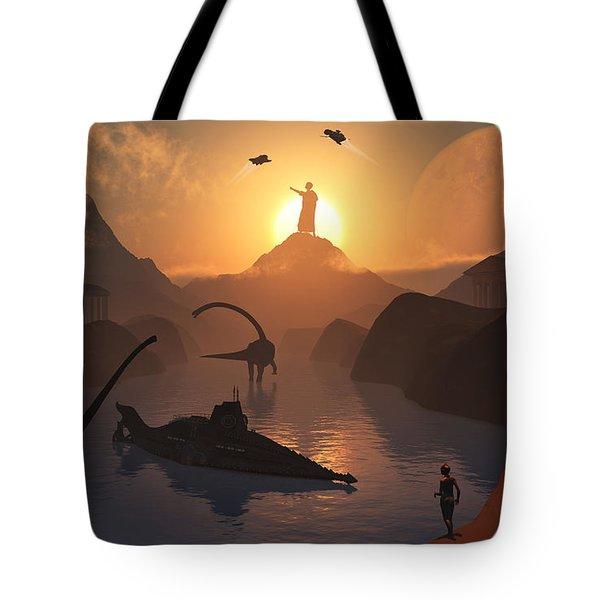 The Fabled City Of Atlantis Set Tote Bag by Mark Stevenson
