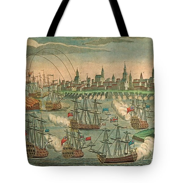 The Fall Of Louisbourg 1758 Tote Bag by Photo Researchers