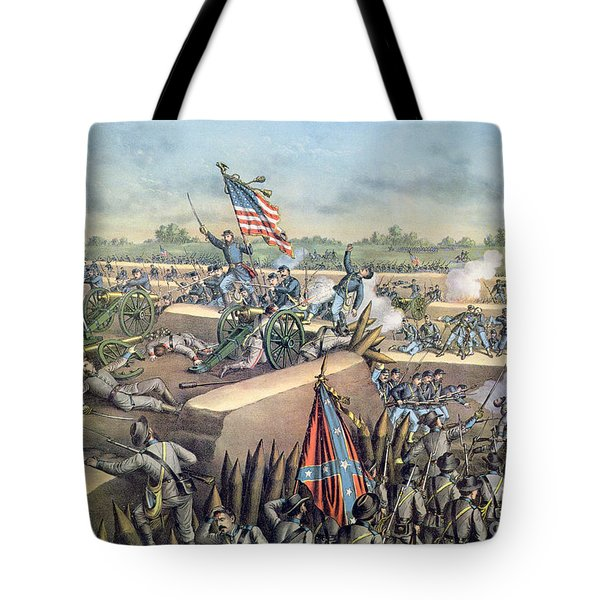 The Fall Of Petersburg To The Union Army 2nd April 1965 Tote Bag by American School