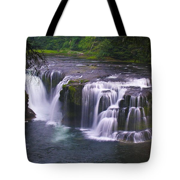 Tote Bag featuring the photograph The Falls by David Gleeson