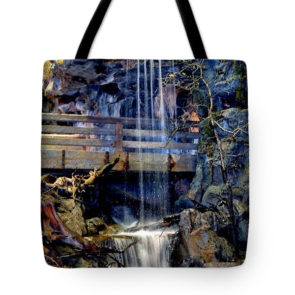 Tote Bag featuring the photograph The Falls by Deena Stoddard