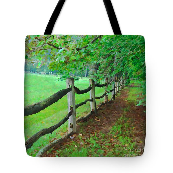 The Fence Path Tote Bag