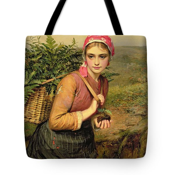 The Fern Gatherer Tote Bag by Charles Sillem Lidderdale