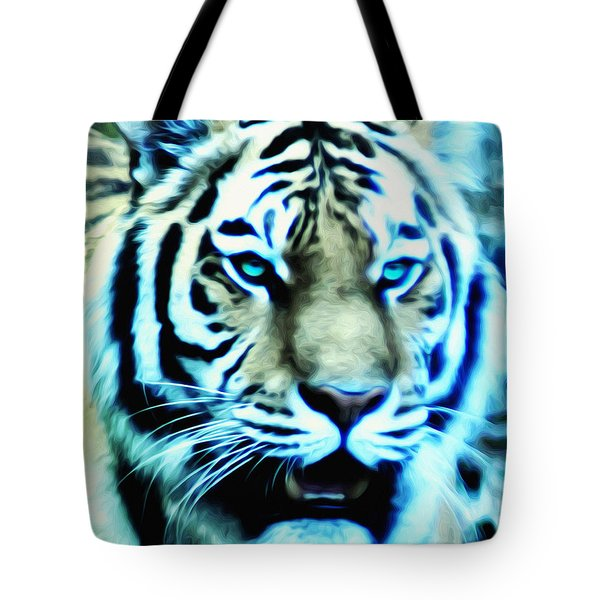 The Fierce Tiger Tote Bag by Bill Cannon