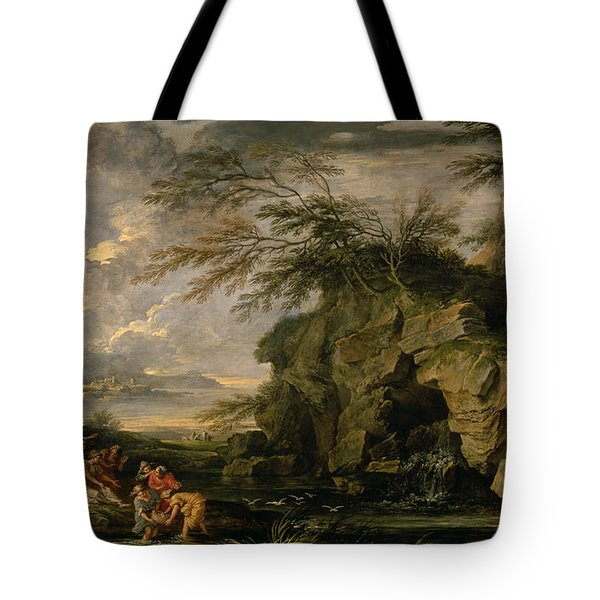 The Finding Of Moses Tote Bag by Salvator Rosa