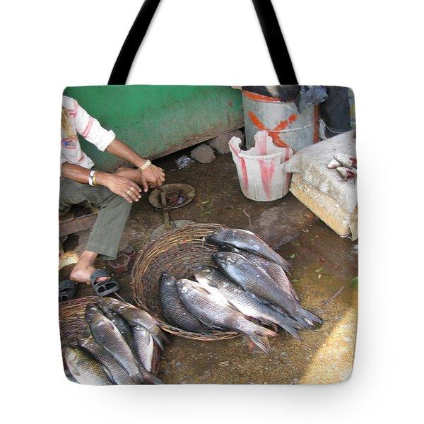 The Fish Seller Tote Bag by David Pantuso