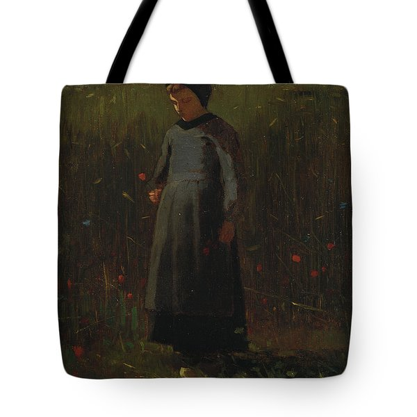 The Flowers Of The Field Tote Bag by Winslow Homer