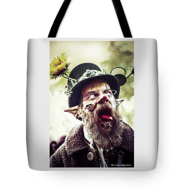 Tote Bag featuring the photograph The Fool Goblin by Stwayne Keubrick